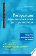 Post-partum : recommandations CNGOF pour la pratique clinique