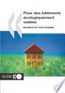Pour des bâtiments écologiquement viables Enjeux et politiques