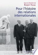 Pour l'histoire des relations internationales