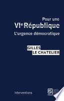 Pour une VI République