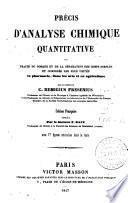Précis d'analyse chimique quantitative