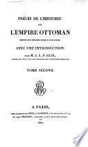 Précis de l'histoire de l'Empire ottoman