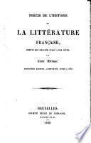 Précis de l'histoire de la littérature française
