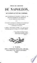 Precis de l'histoire de Napoleon, du consulat et de l'empire ..
