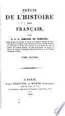 Précis de l'histoire des Français