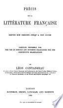 Précis de la littérature française