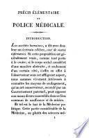 Précis élémentaire de police médicale
