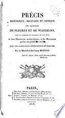 Precis historique, militaire et critique des batailles de fleurus et de waterloo