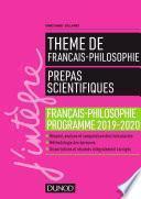 Prépas scientifiques - Thème de français-philosophie 2019-2020