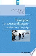 Prescription des activités physiques