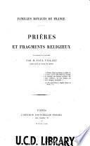 Prières et fragments religieux