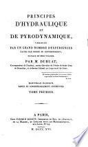 Principes D'hydraulique Et de Pyrodynamique