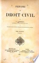 Principes de droit civil français