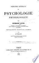 Principes généraux de psychologie physiologique