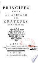 Principes pour la lecture des orateurs par l'Abbé Edme Mallet