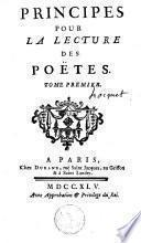 Principes pour la lecture des poëtes