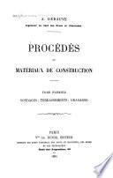 Procédés et matériaux de construction: Sondages; terrassements; dragages
