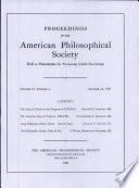 Proceedings, American Philosophical Society (vol. 91, no. 4)