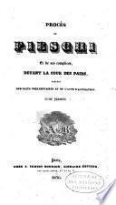 Procès de Fieschi et de ses complices