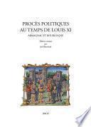 Procès politiques au temps de Louis XI