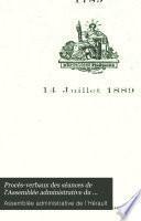 Procès-verbaux des séances de l'Assemblée administrative du département de l'Hérault pendant la Révolution (1790-1793): 12 Juillet 1790-14 Décembre 1791