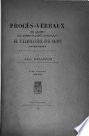 Procès-verbaux des séances des administrations municipales de Villefranche-sur-Saône, 1789-1800