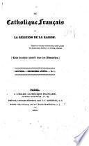 Profession de foi de l'église française catholique et apostolique de Clichy. 15 janvier 1833