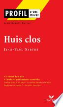 Profil - Sartre (Jean-Paul) : Huis clos