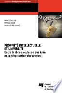 Propriété intellectuelle et université
