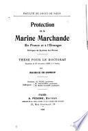 Protection de la marine marchande en France et à l'étranger