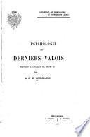 Psychologie des derniers Valois