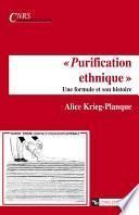 « Purification ethnique »