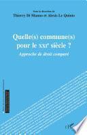 Quelle(s) commune(s) pour le XXIe siècle ?