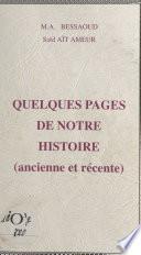 Quelques pages de notre histoire