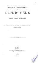 Quelques pages inédites de Blaise de Monluc