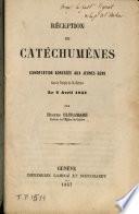 Réception de catéchuménes