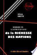 Recherche sur la nature et les causes de la Richesses des Nations