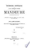 Recherches historiques sur la ville, la principauté et la république de Mandeure (Epomnaduodurum)