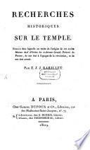 Recherches historiques sur le Temple