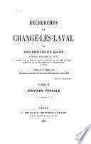 Recherches sur Changé-lès-Laval