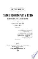 Recherches sur l'histoire des corps d'arts & métiers en Roussillon