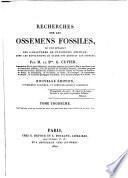 Recherches sur les ossemens fossiles,