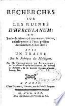 Recherches sur les ruines d'Herculanum
