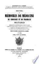 Recueil de mémoires de médecine, de chirurgie et de pharmacie militaires