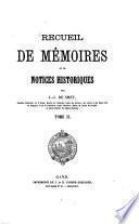 Recueil de mémoires et de notices historiques