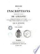Recueil des inscriptions grecques et latines de l'Égypte