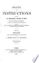 Recueil des instruction données aux ambassadeurs et ministres de France depuis les traités de Westphalie jusqu'à la Révolution française