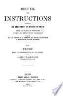 Recueil des instructions données aux ambassadeurs et ministres de France depuis les traités de Westphalie jusqu'à la révolution française