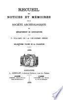 Recueil des notices et mémoires de la Société archéologique, historique, et géographique du département de Constantine