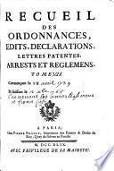Recueil des reglemens rendus jusqu'à présent concernant les droits d'amortissemens, francfiefs, nouveaux acquests et usages